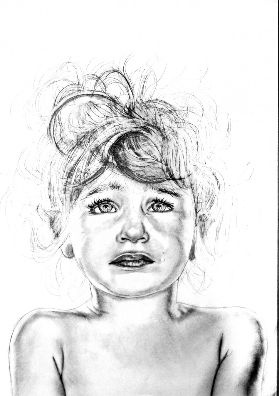 One is girls drawn about to your step by step span crying view