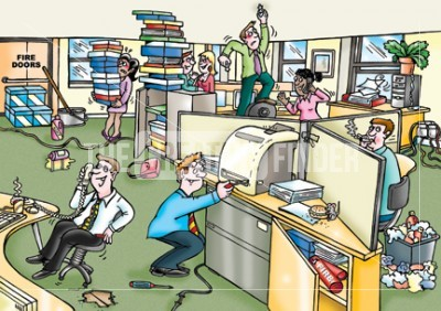 Office Hazards By Richard Duszczak Cartooning From
